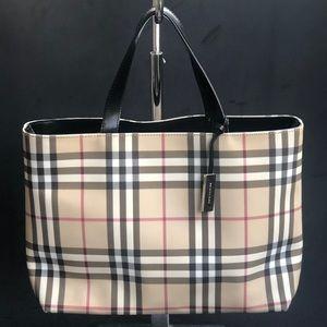 BURBERRY Check nova tote bag